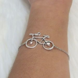 Jewelry - Brand NEW! Silver Bicycle Bracelet